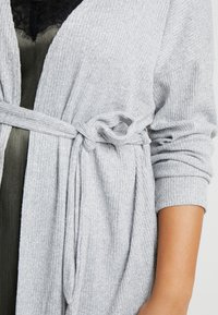 New Look Curves - SELF BELT CARDI - Kardigan - light grey