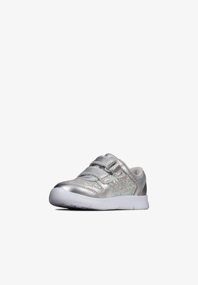 ATH SONAR -KLETTVERSCHLUSS - Touch-strap shoes - silbernes leder