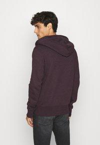 Superdry - ORANGE LABEL - Zip-up hoodie - autumn blackberry marl - 2