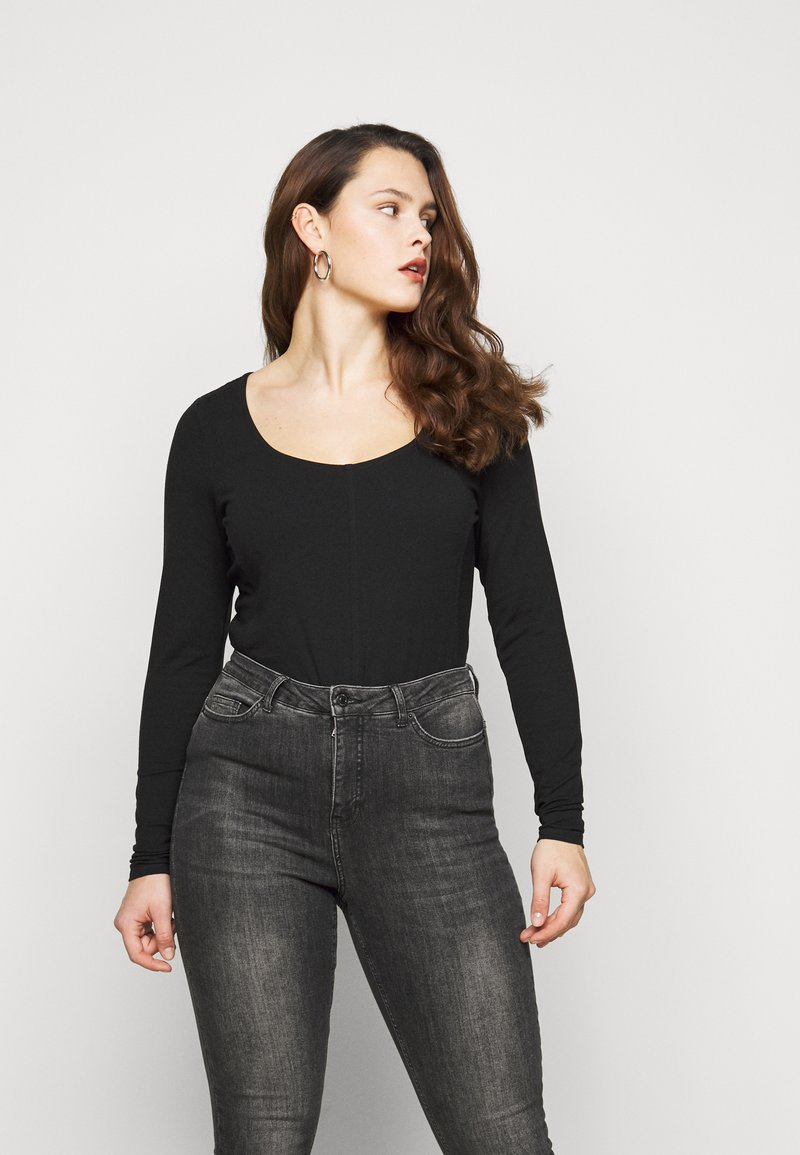 New Look Curves - SEAMED - Long sleeved top - black