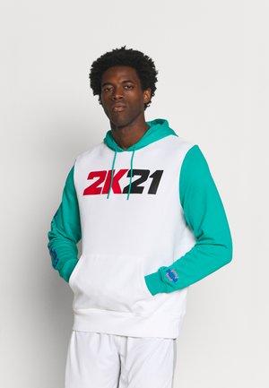 NBA 2K HOODIE - Sweatshirt - white/columbia