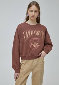 PULL&BEAR - Sweatshirt - light brown - 0