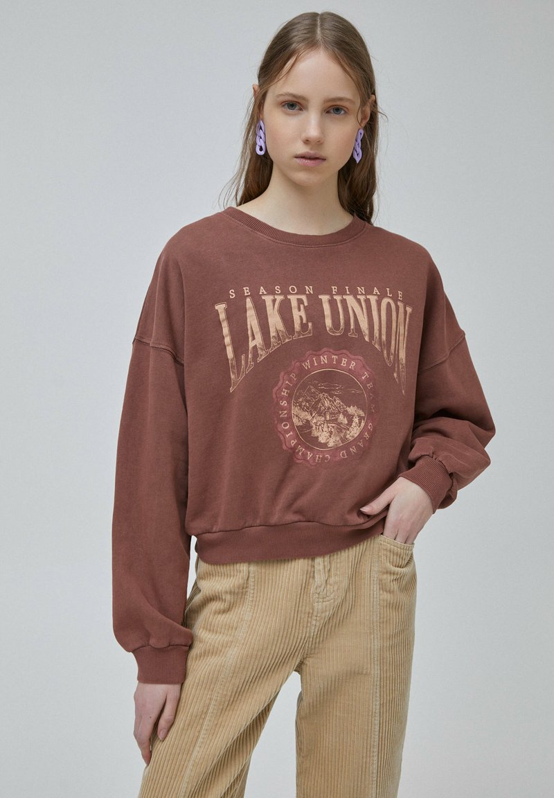 PULL&BEAR - Mikina - light brown