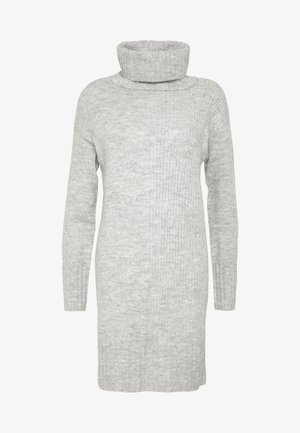 CAZ SNOOD DRESS - Pletené šaty - grey