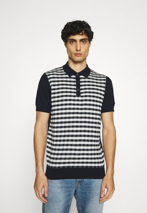 CHECK - Polo shirt - dark navy