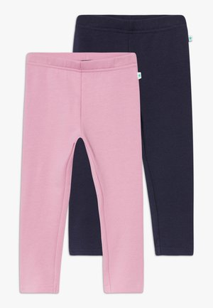 KIDS  LEGGINGS 2 PACK - Leggings - mauve/nachtblau original