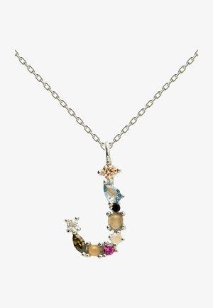 BUCHSTABE J - Necklace - silber