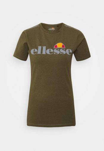 DELLE - T-shirt print - khaki