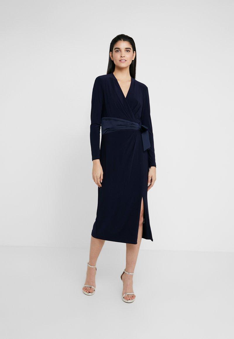 Lauren Ralph Lauren - MID WEIGHT DRESS COMBO - Robe en jersey - lighthouse navy