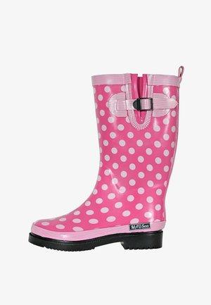 Wellies - pink/weiß