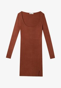 Stradivarius - Shift dress - brown - 4