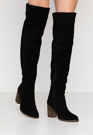LEATHER BOOTS - Over-the-knee boots - black