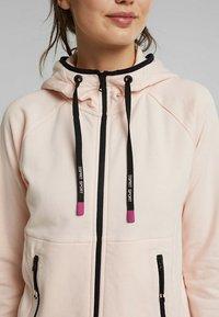 Esprit Sports - KAPUZEN - Zip-up hoodie - peach - 5