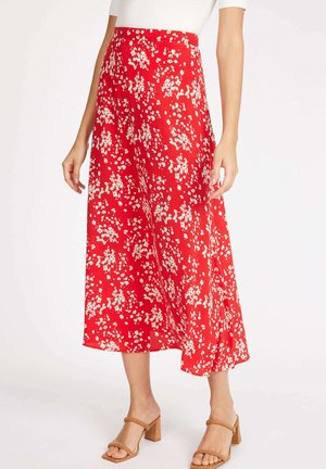 Andrea - A-line skirt - red/white