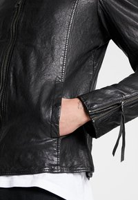 Tigha - NERO - Leather jacket - black - 3