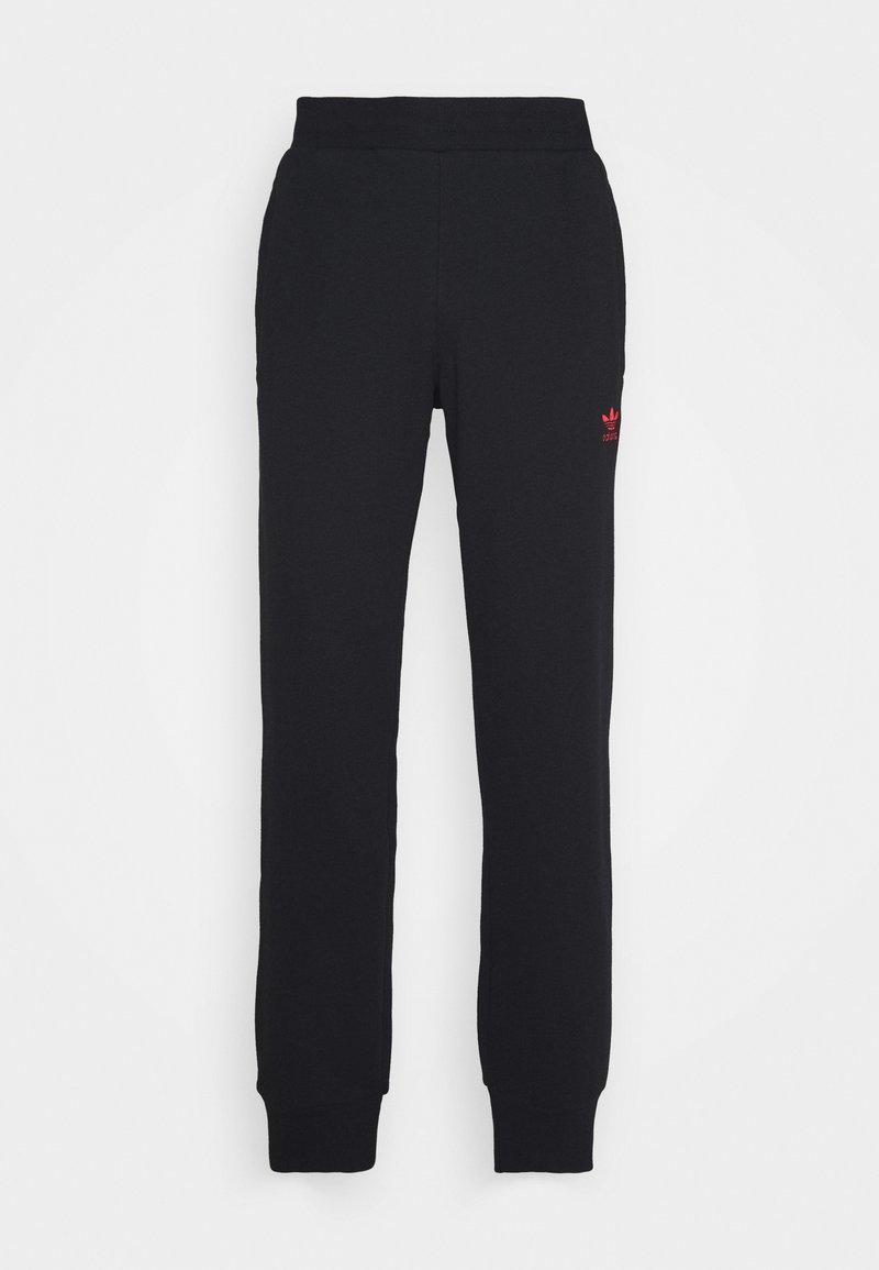 adidas Originals - TREFOIL PANT UNISEX - Tracksuit bottoms - black/scarle