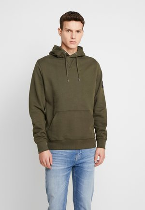 MONOGRAM SLEEVE BADGE HOODIE - Sweat à capuche - deep depths