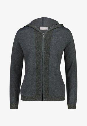 MIT KAPUZE - Sweater met rits - dark gray
