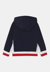Lacoste Sport - OLYMP TRACK UNISEX - Zip-up hoodie - navy blue/white/red - 1