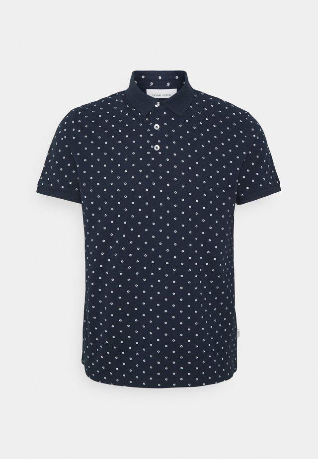 TRISTAN PRINTED - Polo shirt - navy blazer