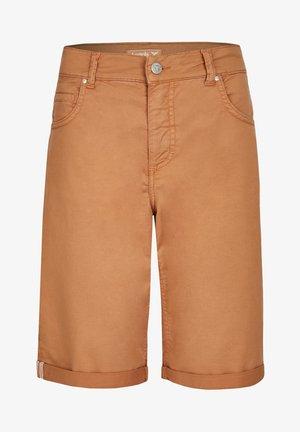 Denim shorts - hellbraun