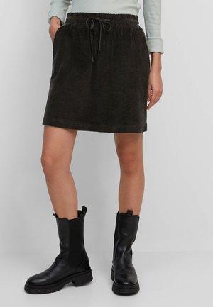 CORD-ROCK AUS ORGANIC COTTON - A-line skirt - black