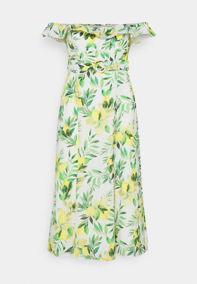 NIKKI BARDOT MIDI DRESS - Hverdagskjoler - summer lemon