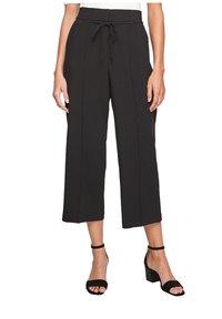 s.Oliver BLACK LABEL - REGULAR CULOTTE MIT ZIERNAHT - Trousers - black - 0