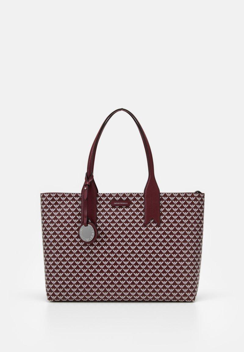 Emporio Armani - FRIDASHOPPING BAG - Handbag - vinaccia/perla