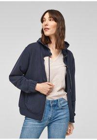 s.Oliver - Zip-up sweatshirt - blue - 0