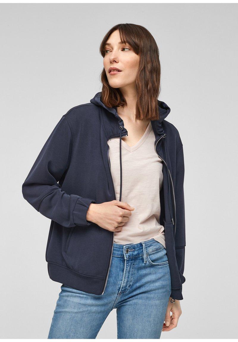 s.Oliver - Zip-up sweatshirt - blue