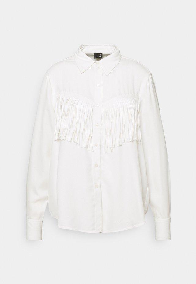 DIANA FRINGE - Overhemdblouse - offwhite