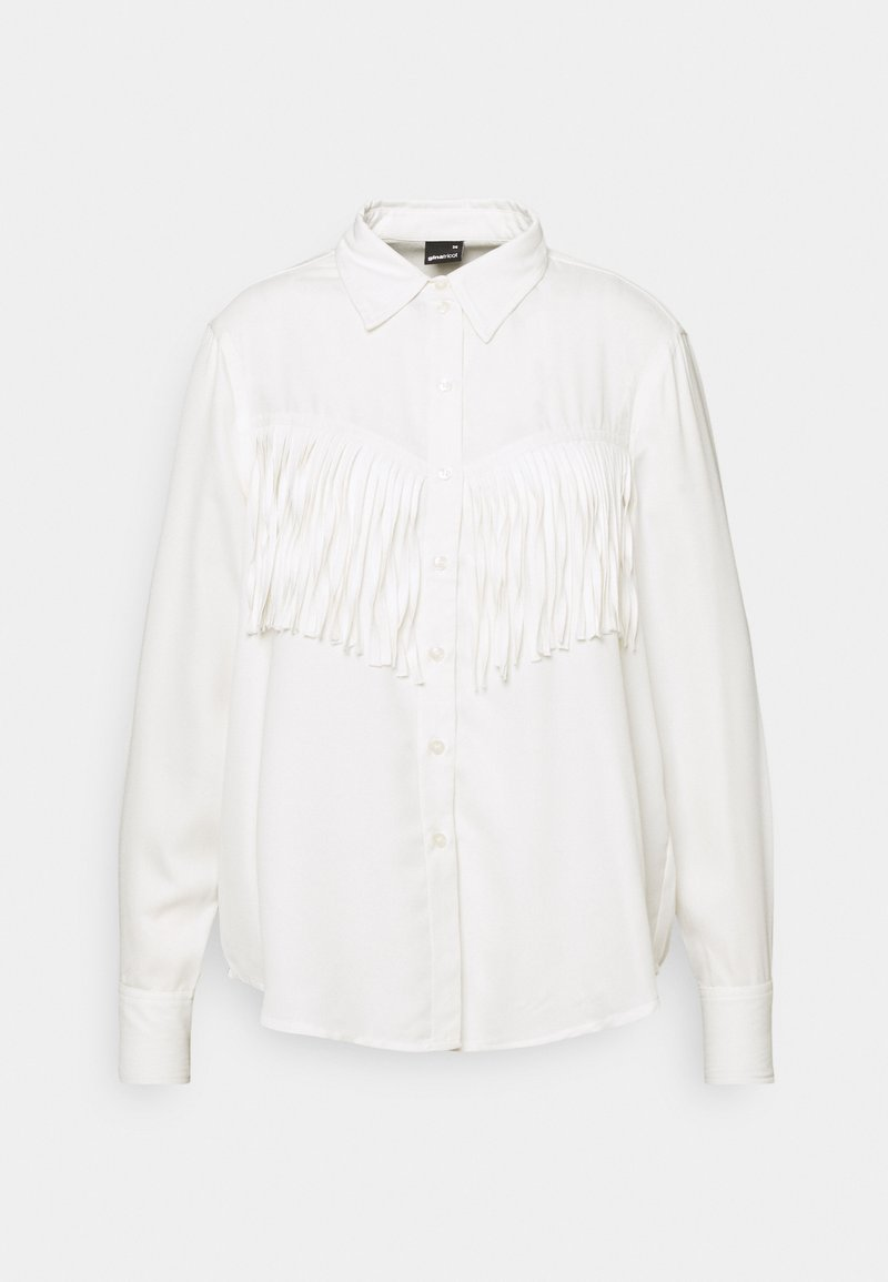 Gina Tricot - DIANA FRINGE - Button-down blouse - offwhite