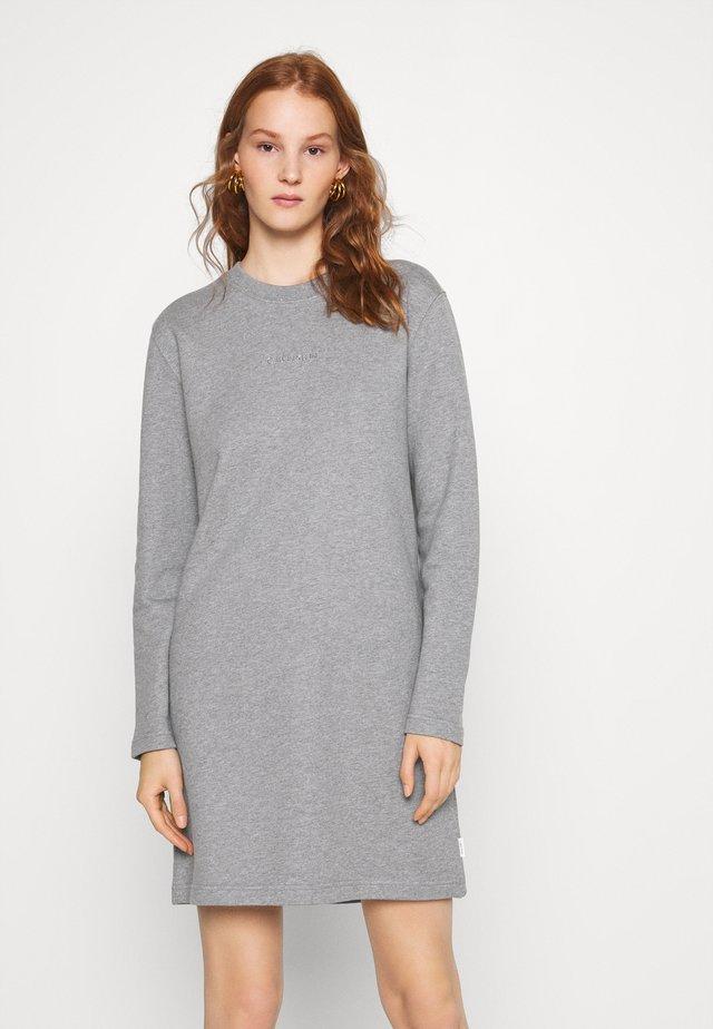 METALLIC LOGO DRESS - Day dress - mid grey heather