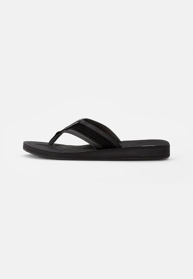 COMBO - T-bar sandals - anthracite