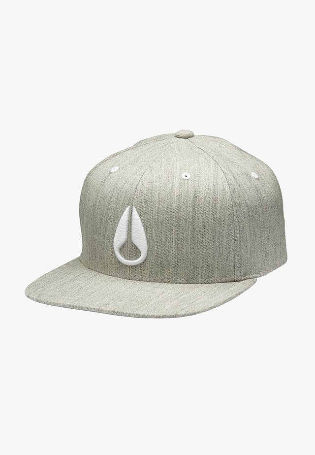 DEEP DOWN ATHLETIC FIT FLEXFIT  - Cappellino - heather gray/white