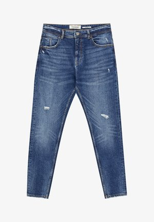DUNKELBLAUE KAROTTENJEANS 05682524 - Džíny Slim Fit - blue denim