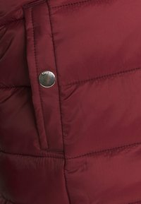 ONLY - ONLSANDIE QUILTED HOOD JACKET - Lett jakke - pomegranate - 4
