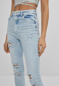 Bershka - SUPER HIGH WAIST - Jeans Skinny Fit - blue denim - 3