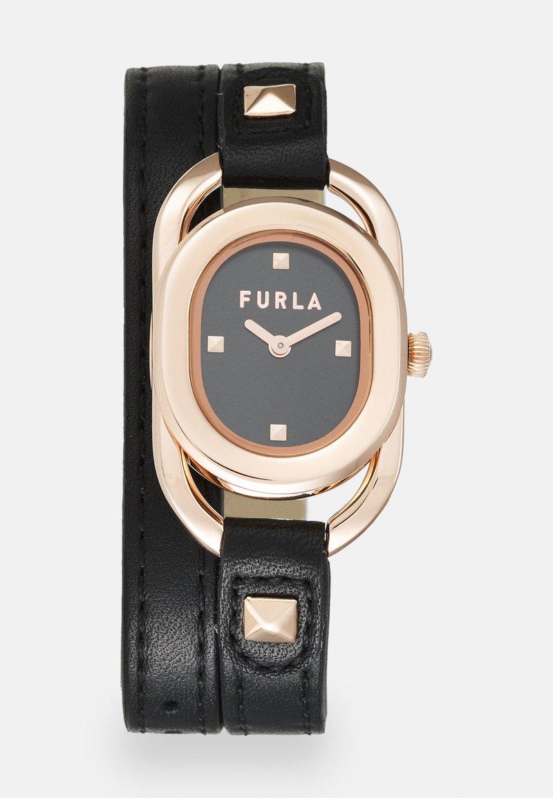 Furla - STUDS INDEX - Watch - black/rosegold-coloured