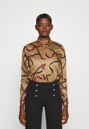 JAMELKO LONG SLEEVE BUTTON FRONT SHIRT - Button-down blouse - classic camel