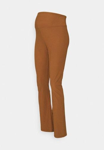 FLARE - Legginsy - brown