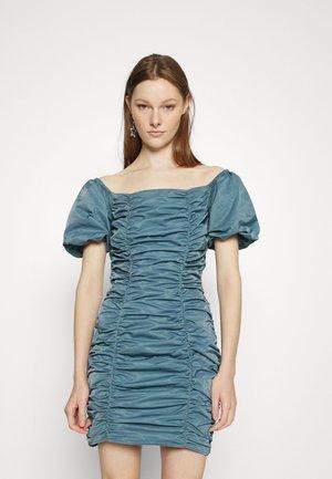 RUCHED MINI DRESS - Cocktail dress / Party dress - soft petrol blue