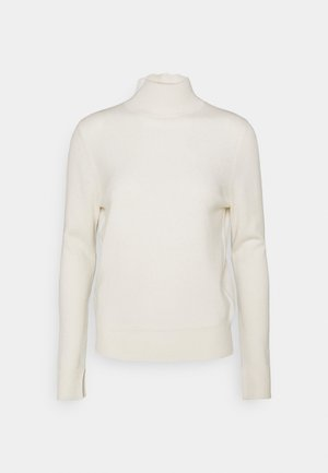 SIMPLE HIGH NECK - Sweter - white