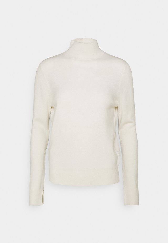SIMPLE HIGH NECK - Maglione - white