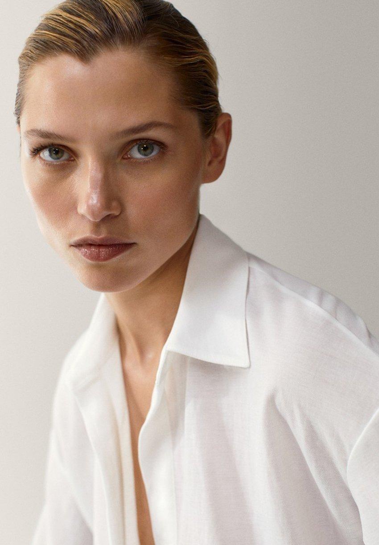 Massimo Dutti Overhemdblouse - white - Dameskleding Origineel