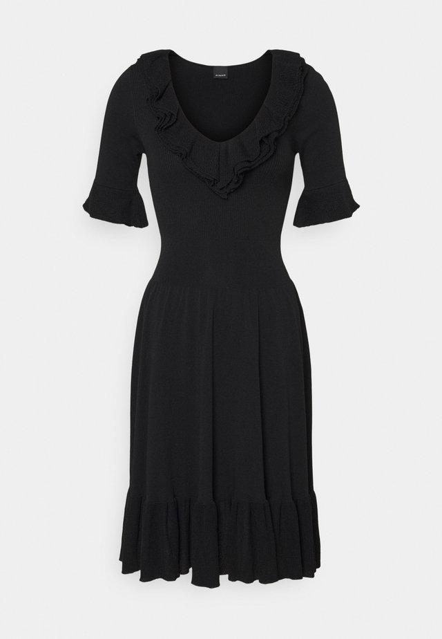 DRIBBLING ABITO - Gebreide jurk - black
