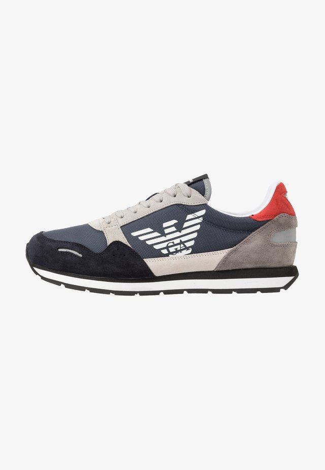 LACE UP - Trainers - navy/white/plume