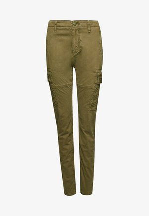 Cargo trousers - tuscan olive embroidered