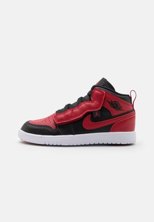 1 MID ALT UNISEX - Basketball shoes - black/gym red/white